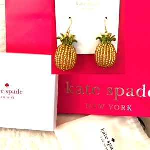 KATE SPADE Earrings Pineapple By The Pool- Box Bag